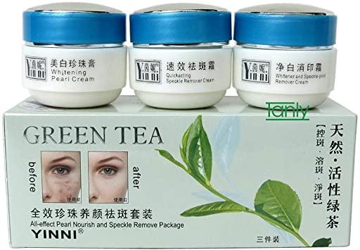 کرم چای سبز سه قلو
